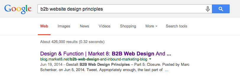 b2b web design page titles