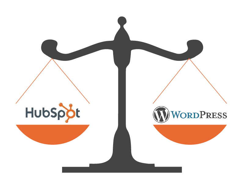 HubSpot vs. Wordpress - a CMS Comparison - Featured Image