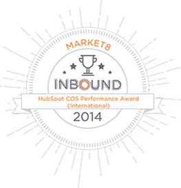 market8-winner-of-hubspot-cos-performance-award-at-inbound-2014