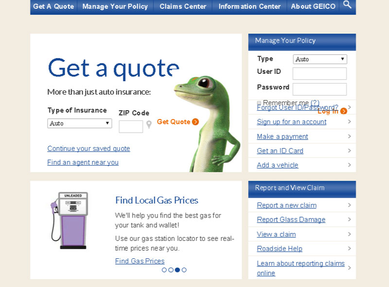 GEICO---Auto-                 insurance---Saving-people-money-on-more-than-car-insurance--directional_cues,_user_experience