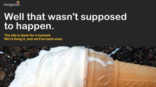 website discontent-should not happen