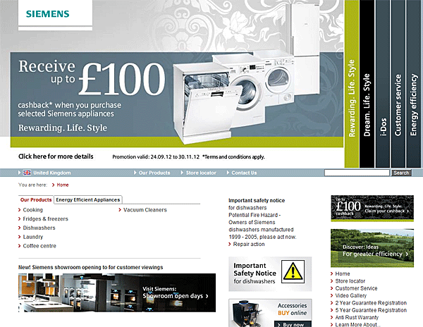 automatic carousel, sliding banner, rotating sliders-auto-rotating-carousels-siemens-appliances