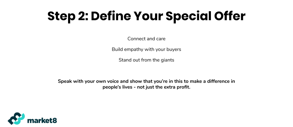 Define Your Special Offer