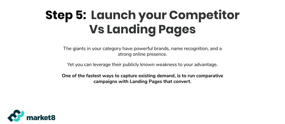 Landing Pages vs. Competitors