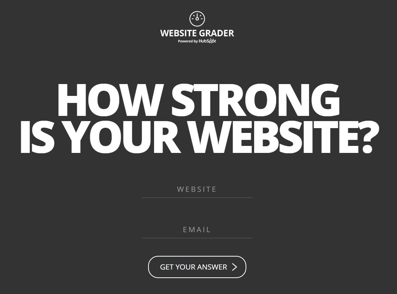 网站层次结构的,以需求为hubspot-grader.png