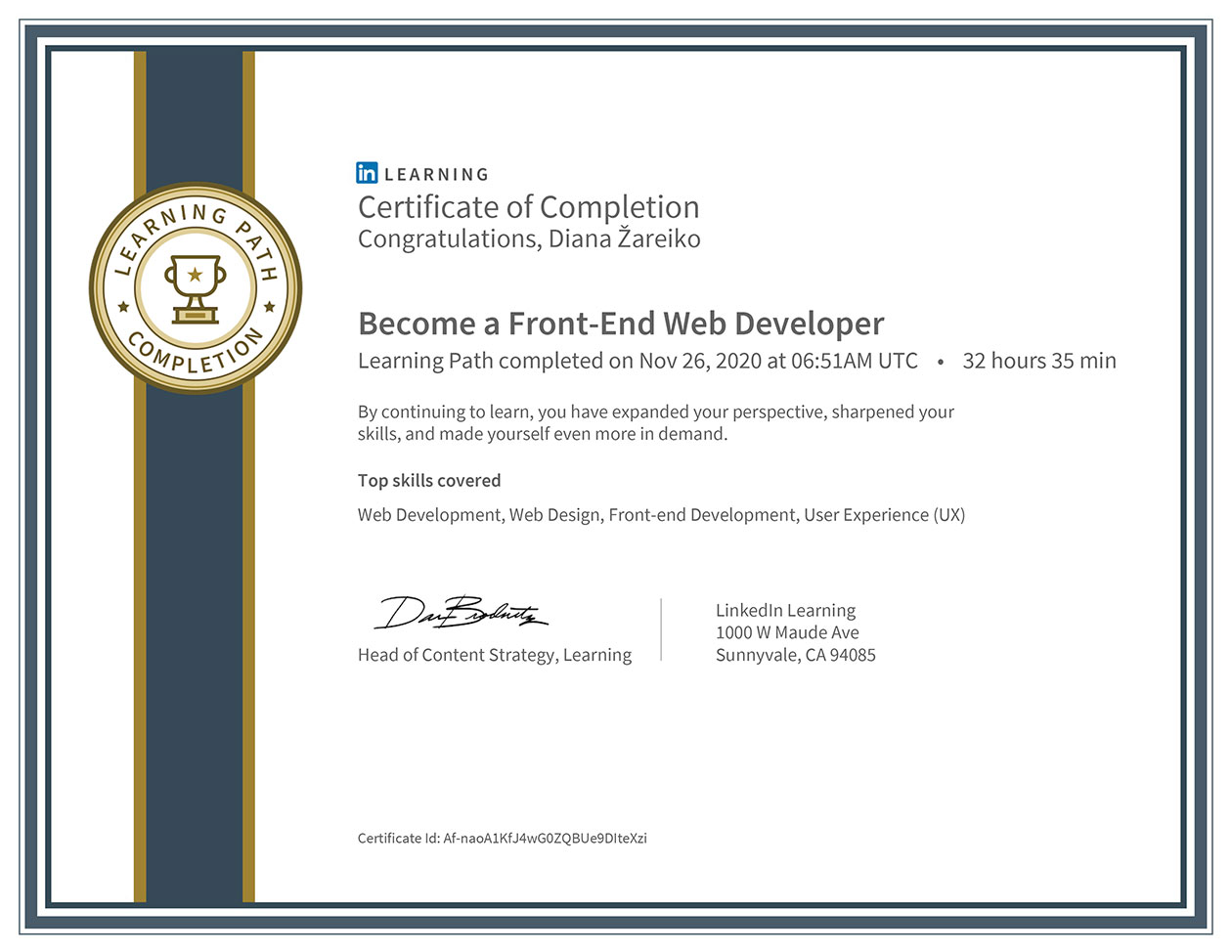 Diana-Zareiko-Front-end-Developer-Certification-Linda