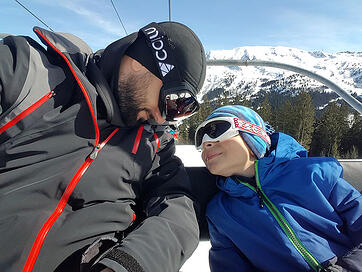 Elie-and-Junior-Ski-in-Courchevel