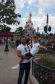 Elie-and-Junior-in-Disneyland-Paris