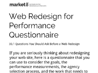 Web Design for Performance Questionnaire