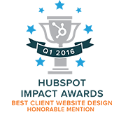 Hubspot Impact Awards - Best Client Website Design