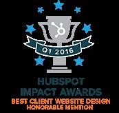 Hubspot Impact Awards - Best Client Website Design